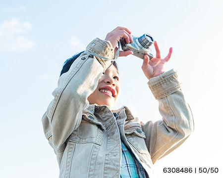 カメラの高さを変えて撮ろう