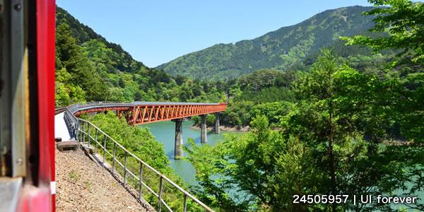 大井川鉄道の車窓からの風景(静岡県)
