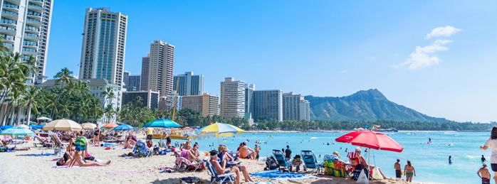 【ハワイ】ホノルル・ワイキキビーチ